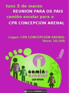 CARTEL CAMIÑO ESCOLAR C.ARENAL