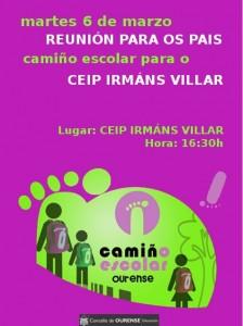 CARTEL CAMIÑO ESCOLAR IRMÁNS VILLAR